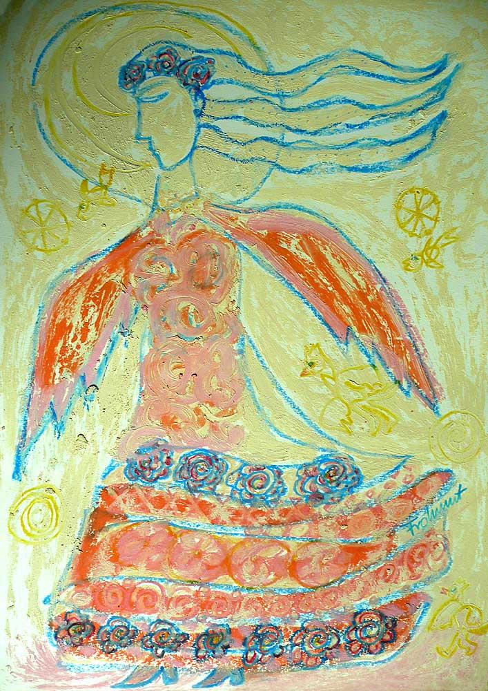 Engel im Blumenkleid