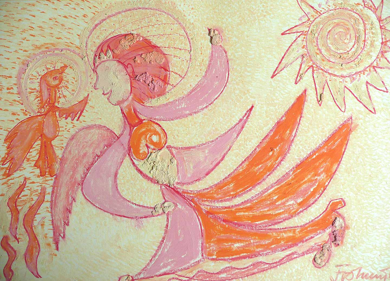 Zottelhaube mit Phoenix