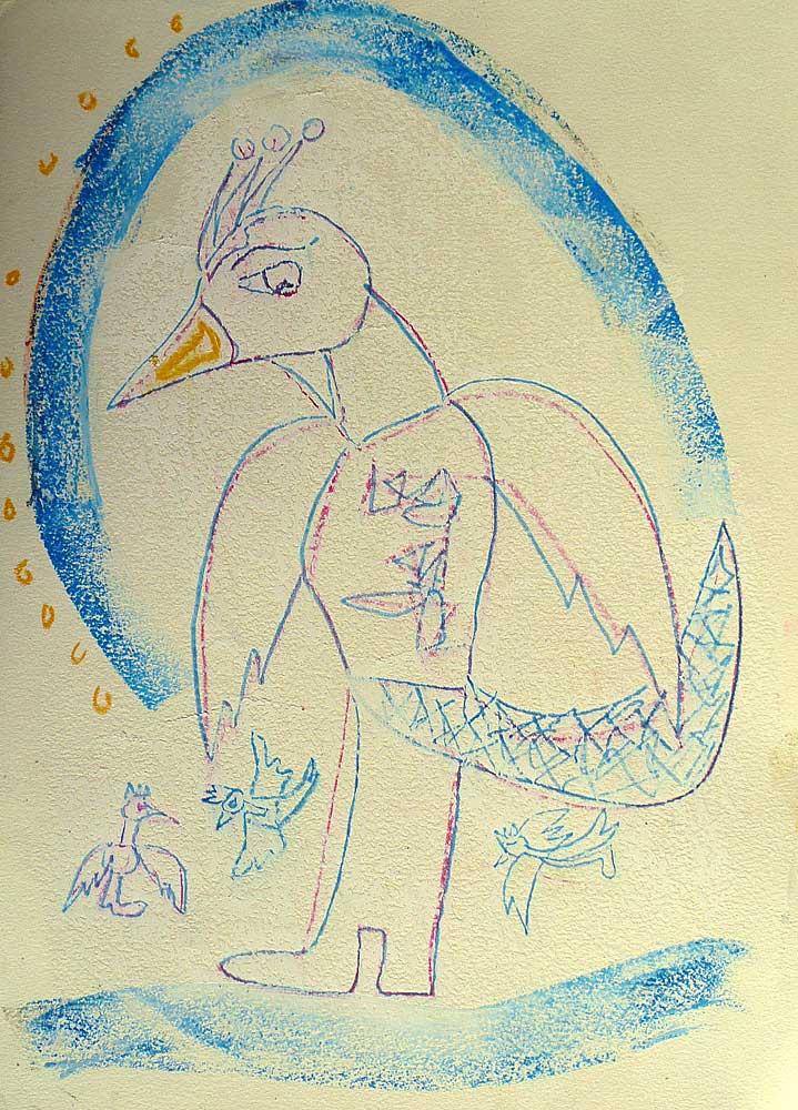 Hüterin der Jungvögel