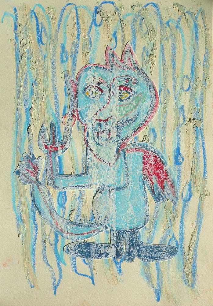 Kleiner Teufel im Regen